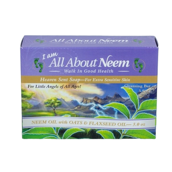 Neem Oil Soap with Oats & Flaxseed Oil - Heaven Scent