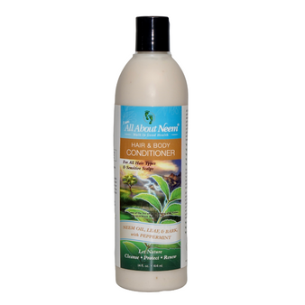 Neem Bark Herbal Essential Oils Hair and Body Conditioner 18 oz
