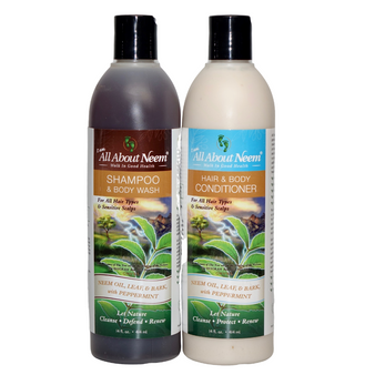 Neem Bark Herbal Essentials Blend Shampoo & Conditioner 36 oz Set