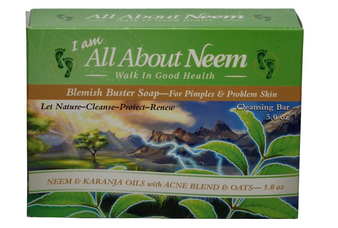 Neem Oil Blemish Buster Acne  Soap with Karanja  and Tea Tree Oil