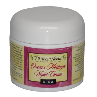 "Moringa, Rose and Neem Oils ""Queen's Night Cream"" with Spike NARD Hemp and Aloe"