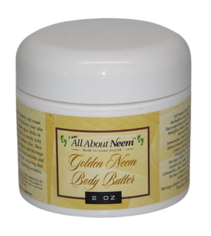 "Neem Oil ""Golden Body Butter"" with Hemp, Shea, Mango and Mowrah Butters"