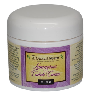 "Neem Oil ""Lemongrass Hand and Foot Cream"" with Hemp, Jojoba and Vitamin E"