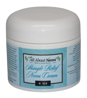 "Neem Oil ""Shingle Relief"" Skin Cream with Hemp and Myrrh"