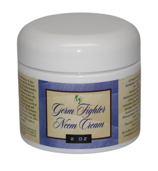 "Neem Oil ""Germ Fighter"" Hand Sanitizer and Moisturizer Cream with Hemp, 11% Zinc and Frankincense"