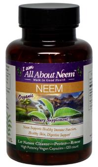 Neem Leaf Capsules 120 Count 1,500 mg Each Capsule Triple Strength Organic Vegan