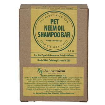 Pet Shampoo Bar For HOT SPOT & Common Sking Problems with Neem & Hemp Oil Great For People Too!