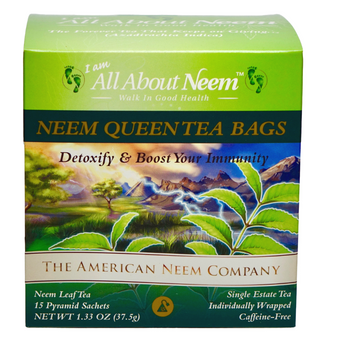 Neem Queen Tea Bags 15 Count in Box Wrapped For Travel