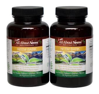 2 pack -  Neem Bark Capsules Organic Fresh 400 Mg Boost Immune System - Oral Care