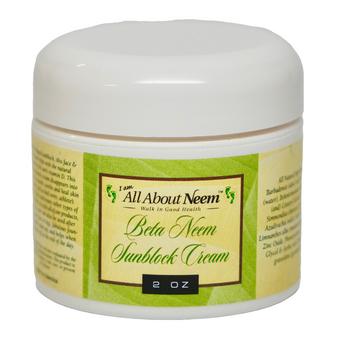 "Neem Oil ""Beta"" Cream with Hemp, Aloe and Zinc - Great for Baby"