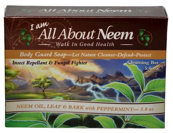 Neem Bark Soap with Hemp, Original Body Guard