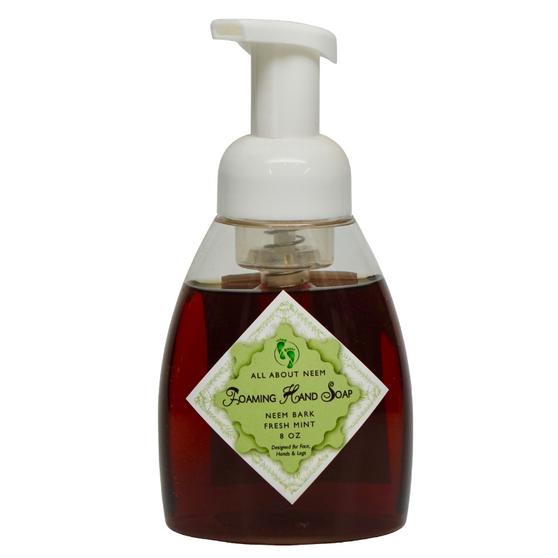 Neem Oil & Neem Bark Foaming Soap - Fresh Mint