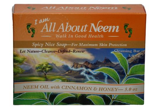 Neem Oil Soap with Cinnamon & Honey - Spicey Nice