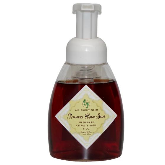 Neem Oil & Neem Bark Foaming Soap - Citrus Basil