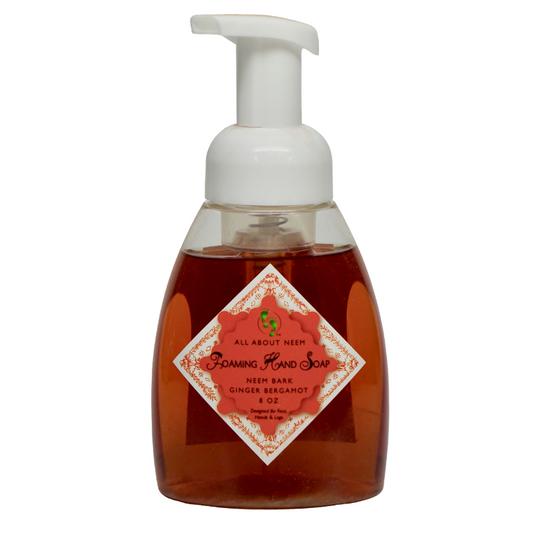 Neem Oil & Neem Bark Foaming Soap - Ginger Bergamot