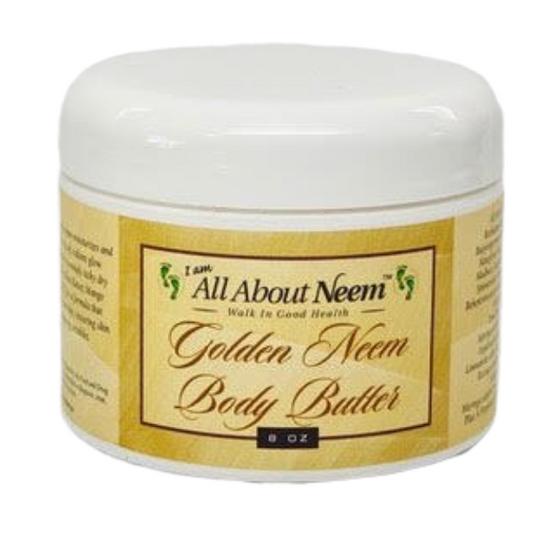 "Neem Oil ""Golden Body Butter"" with Hemp, Shea, Mango and Mowrah Butters"