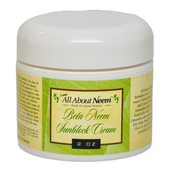 "Neem Oil ""Beta Before/After Suncare"" Cream with Hemp, Aloe and Zinc"