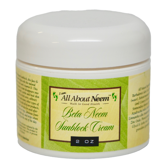 "Neem Oil ""Beta Before/After Suncare"" Cream with Hemp, Aloe and Zinc"