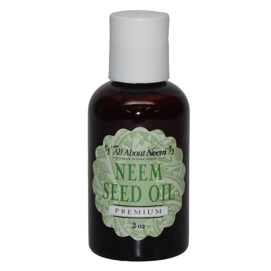 Neem Oil Cold Pressed Organic Wild Harvested - 2 oz