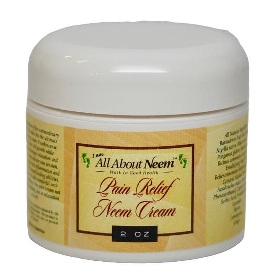 "Neem Oil ""Pain Relief "" Cream with Hemp, Black Cumin Oil and Pain Relief Essential Oils"