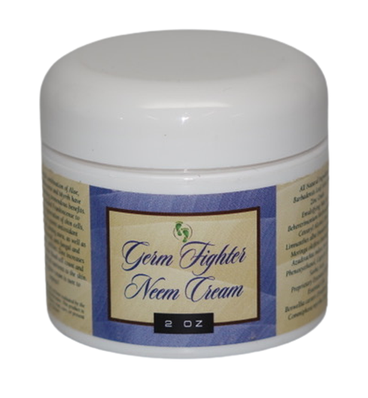 "Neem Oil ""Germ Fighter"" Hand Sanitizer and Moisturizer Cream with Hemp, 11% Zinc and Frankincense"