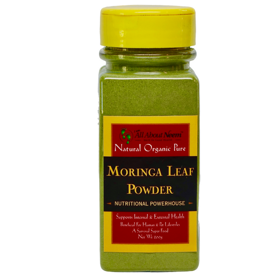 Moringa Leaves POWDERED Organic 6 Oz Shaker Bottle