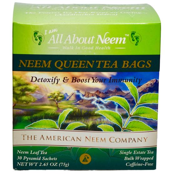 Neem Queen Tea  Bags 30 Count Bulk in Box Boost Immune System