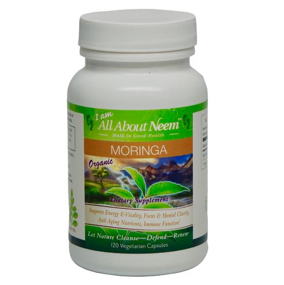 Moringa Oleifera Leaf Capsules - 400 mg - 120 Ct - Organic Raw Herb Super Food