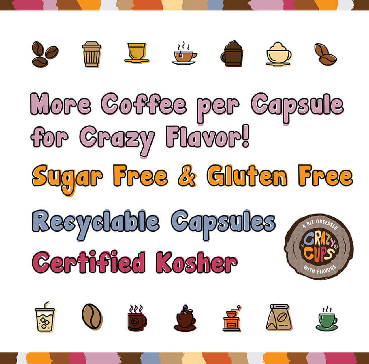 Decaf Frosted Oatmeal Cookie Flavored Coffee by Crazy Cups