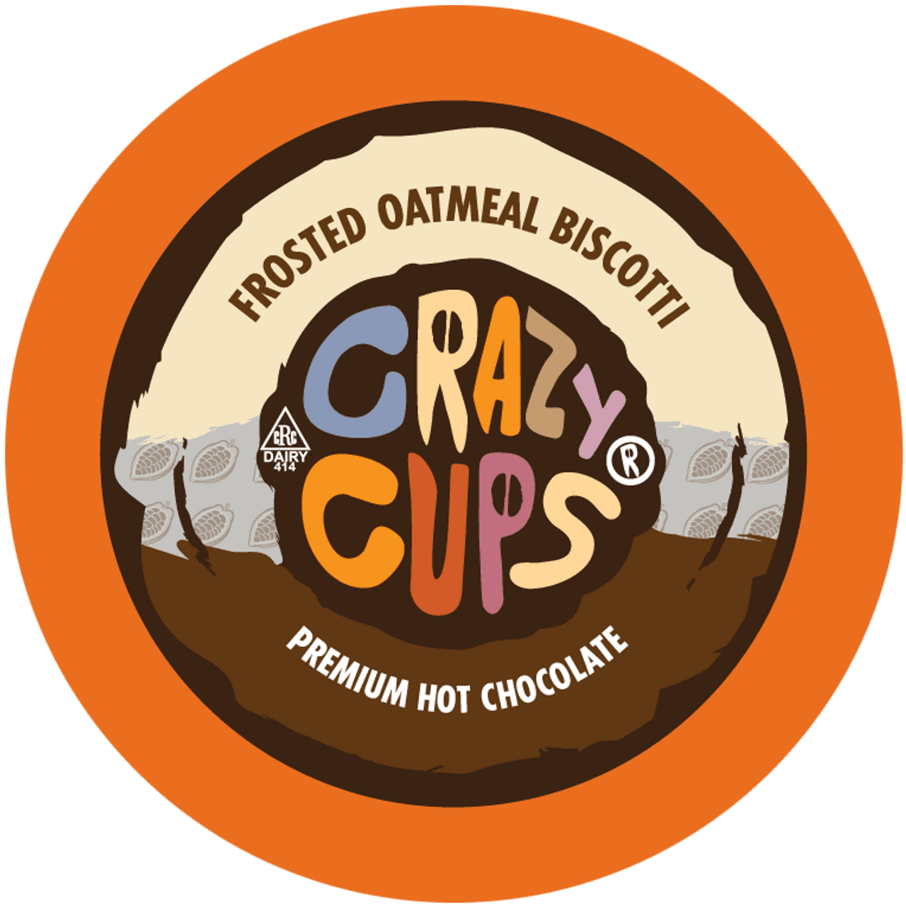 Frosted Oatmeal Biscotti Hot Chocolate by Crazy Cups