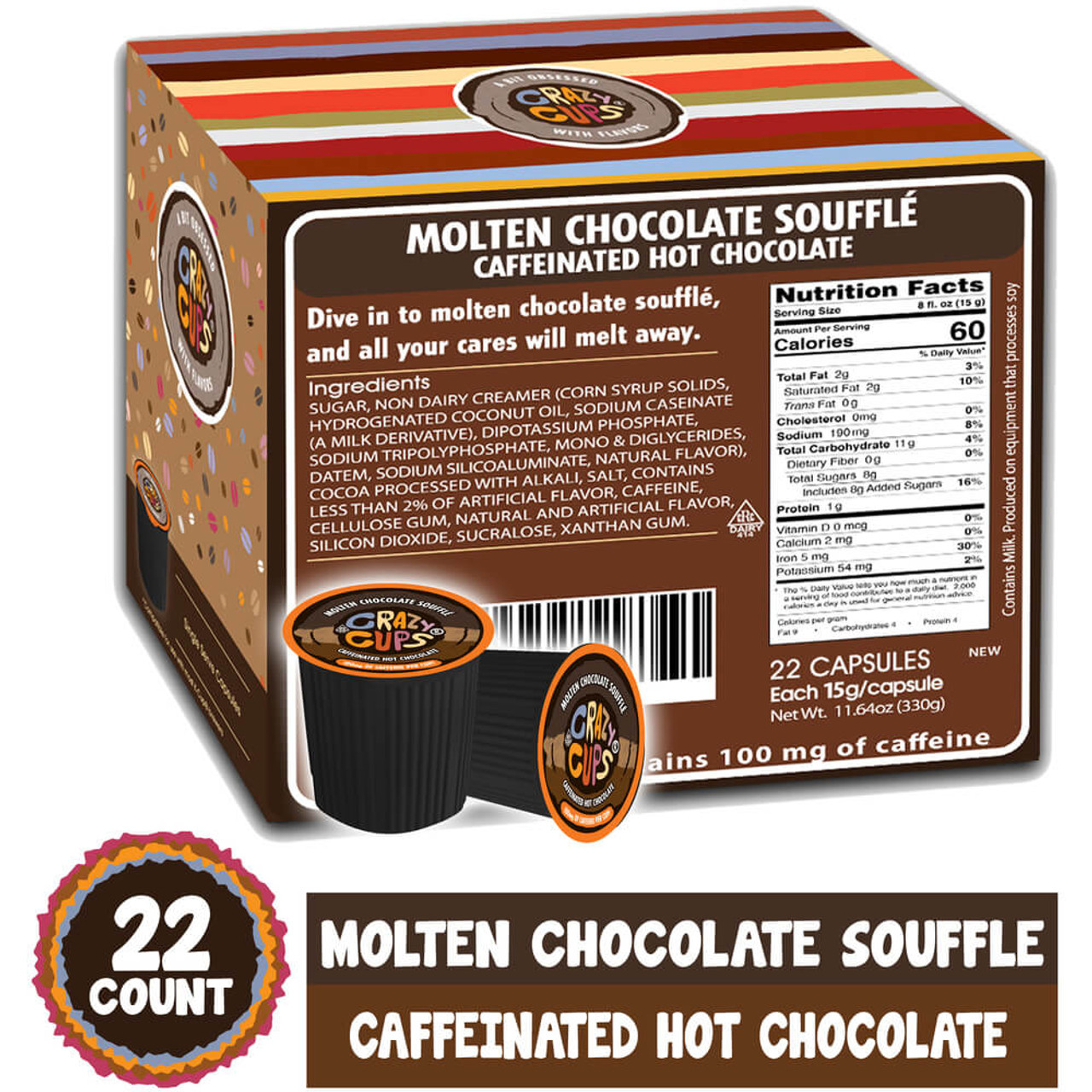 Molten Chocolate Souffle Caffeinated Hot Chocolate by Crazy Cups