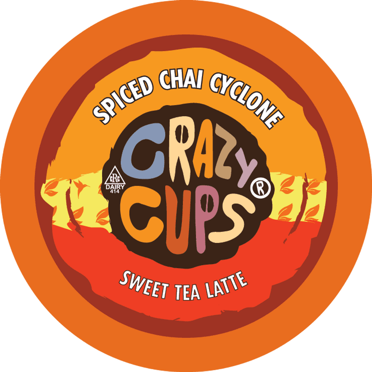 Spiced Chai Cyclone Crazy Tea Latte by Crazy Cups