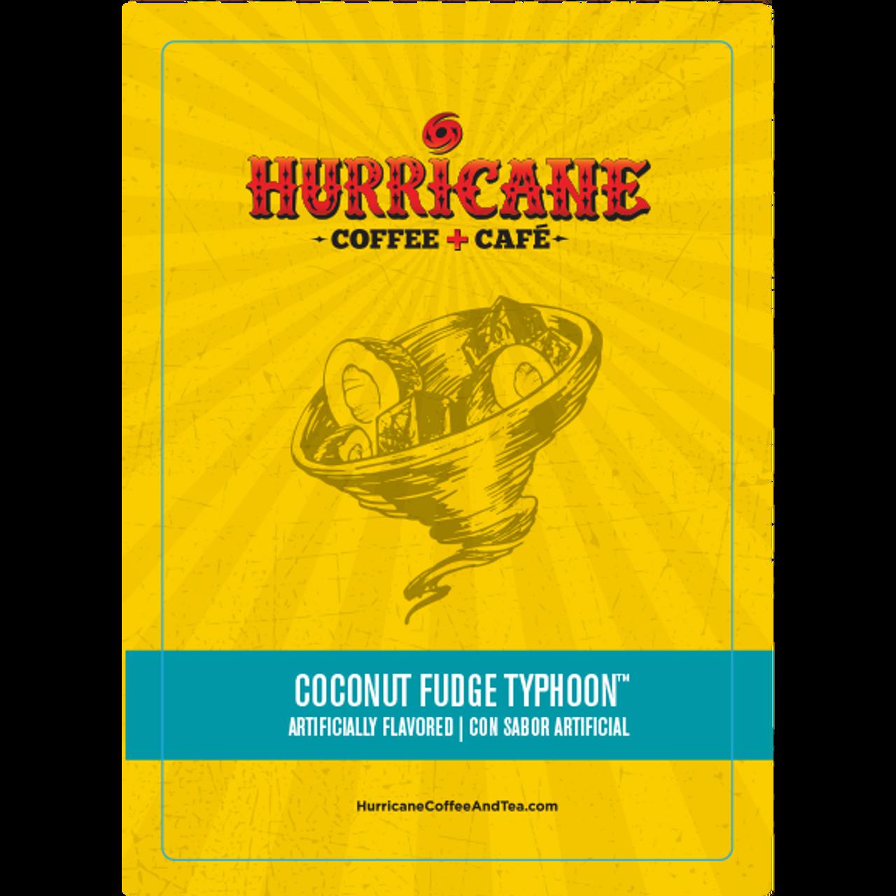 Coconut Fudge Typhoon Flavored Coffee by Hurricane