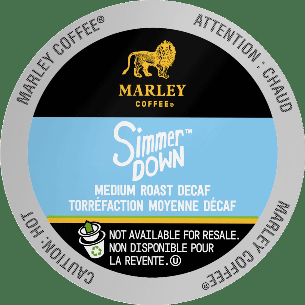 SIMMER DOWN Decaf Coffee by Marley Coffee
