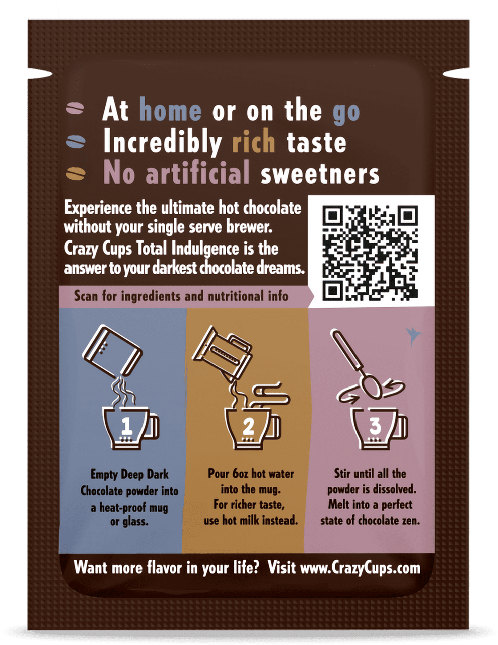 Crazy Cups Total Indulgence Hot Chocolate Powder Mix - Choose Your Flavor - Kid Approved!!!