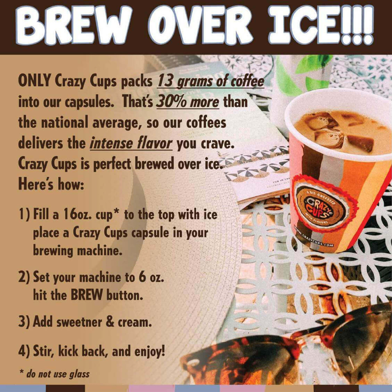 French Vanilla Twist Decaf Flavored Coffee by Crazy Cups