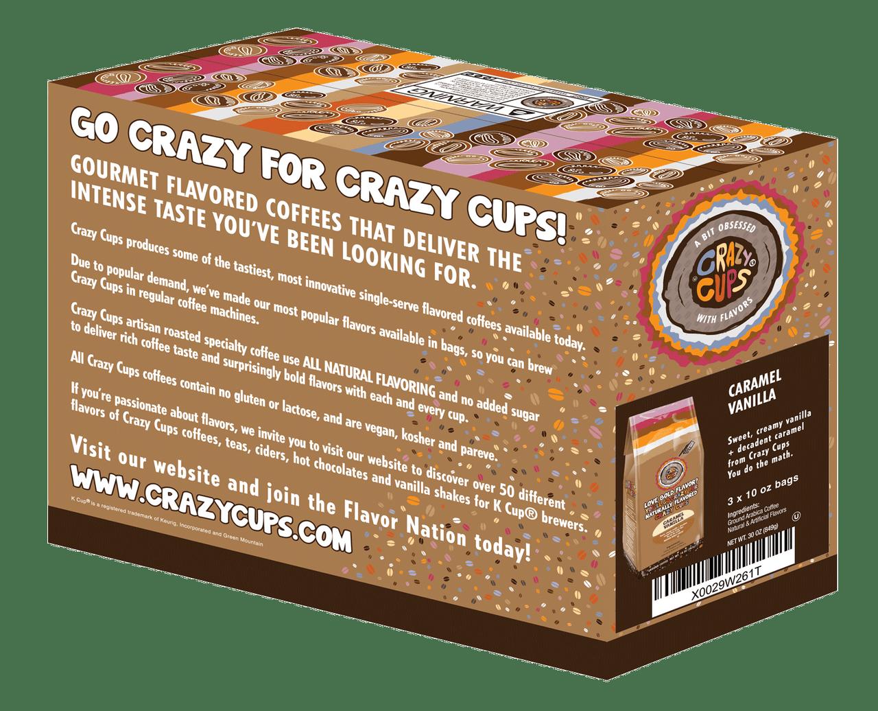 Caramel Vanilla Ground Coffee By Crazy Cups