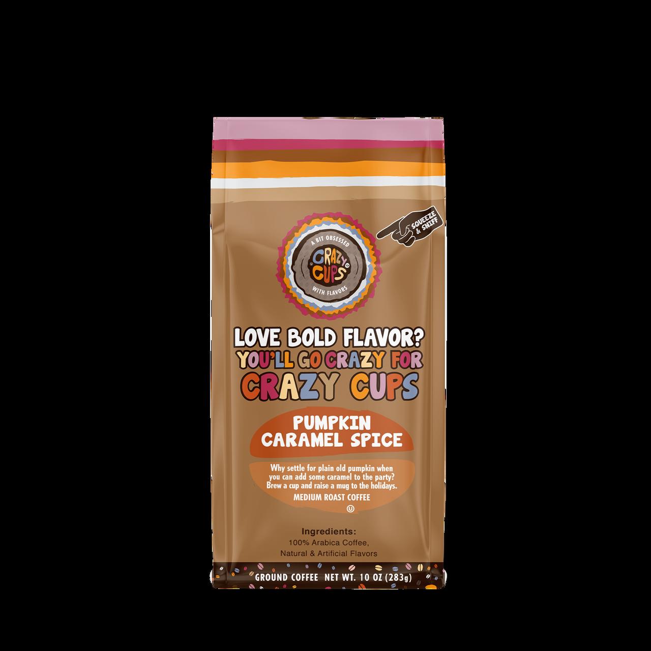 Pumpkin Caramel Spice Ground Coffee By Crazy Cups
