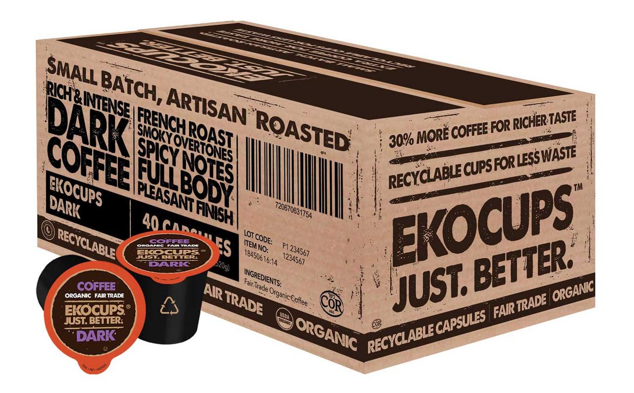Dark Organic Coffee by EKOCUPS