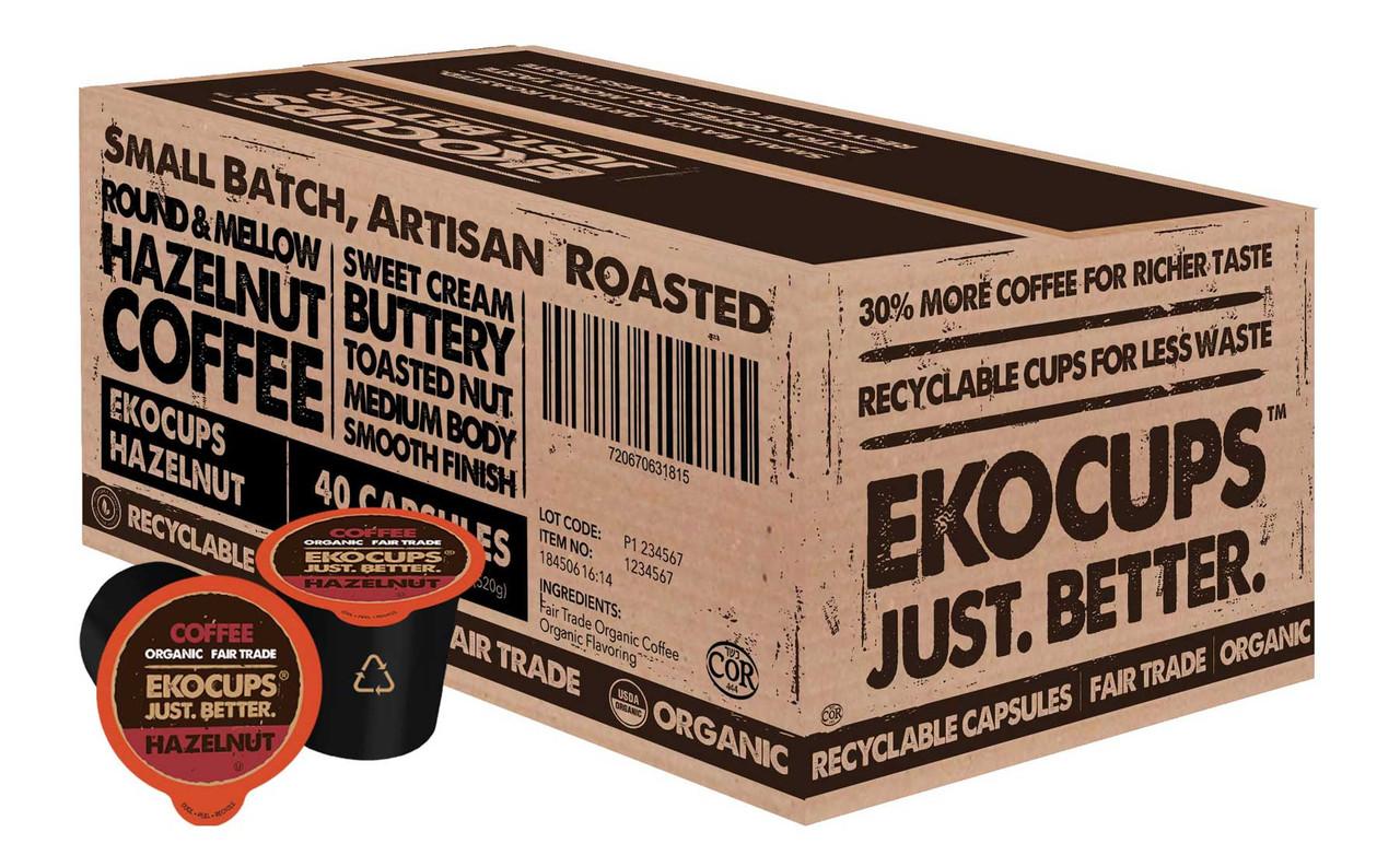Hazelnut Organic Flavored Coffee by EKOCUPS