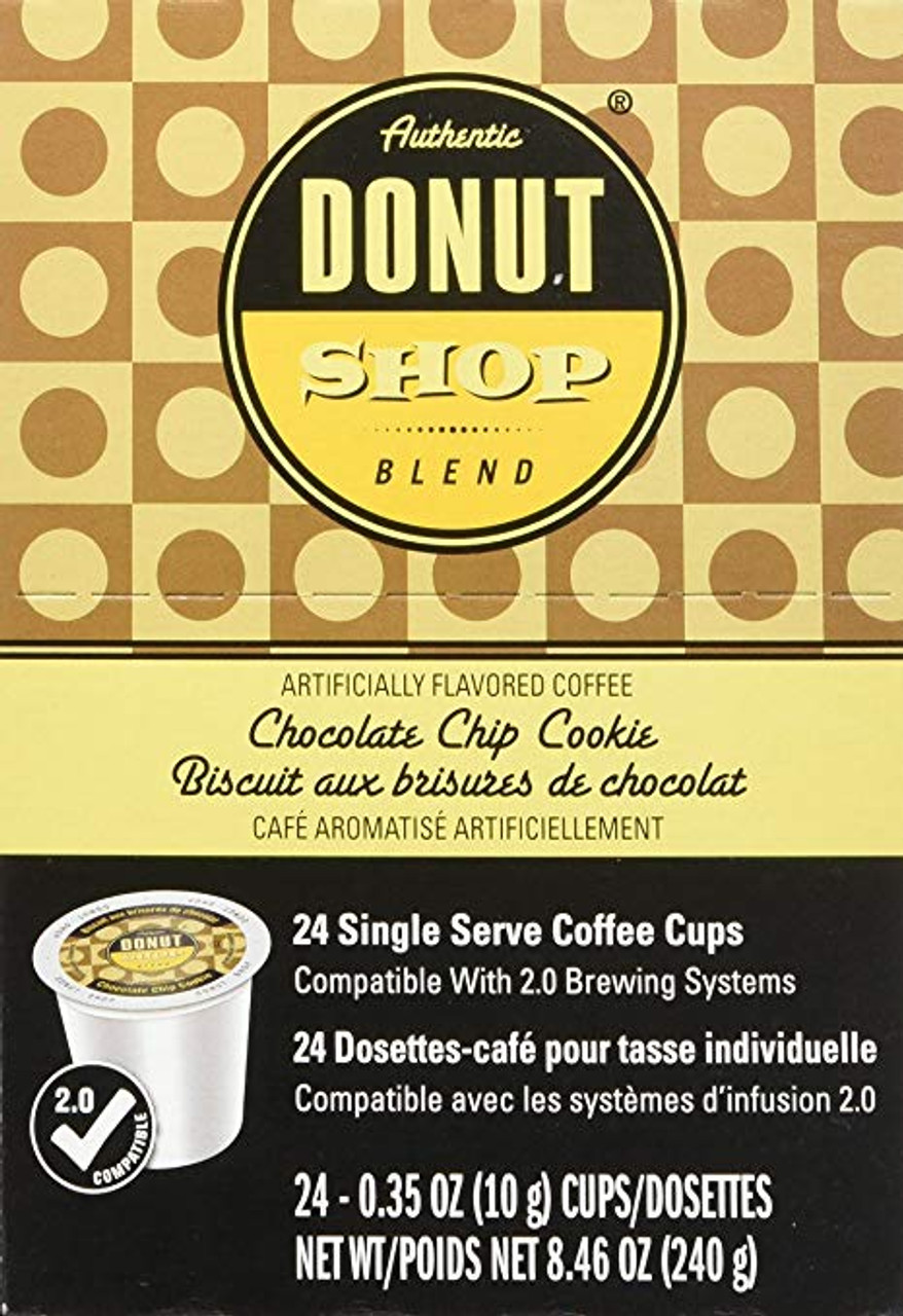 Chocolate Chip Cookie Flavored Coffee by Authentic Donut Shop