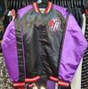 Toronto Raptors Mitchell & Ness Colorblock Purple Satin Jacket