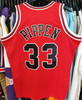 Chicago Bulls Scottie Pippen 33 Red Mitchell & Ness Swingman Jersey