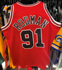 Chicago Bulls Dennis Rodman 91 Red Mitchell & Ness Swingman Jersey