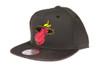Miami Heat Gloss Gold Logo Woven Brim Mitchell & Ness NBA Black Snapback Hat