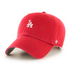 LA Dodgers Red Small Logo 47Brand MLB Strapback Clean Up Hat