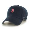 Boston Red Sox Navy Blue Small Logo 47Brand MLB Strapback Clean Up Hat