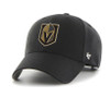 Las Vegas Golden Knights 47Brand Black Gold Logo NHL Velcro Clean Up Hat