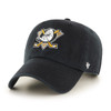 Mighty Ducks 47Brand Black NHL Strap Back Clean Up Hat