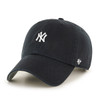 NY Yankees Small Logo Black 47Brand MLB Strapback Clean Up Hat